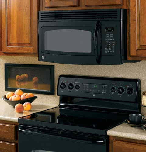 Ge Jvm1540dnbb 1 5 Cu Ft Over The Range Microwave Oven