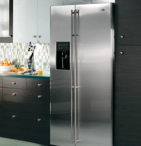Monogram Zfsb25dxss 24 6 Cu Ft Side By Side Refrigerator