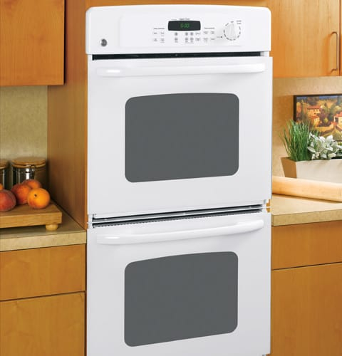Ge Jkp35wmww 27 Inch Double Electric Wall Oven With 3 9 Cu