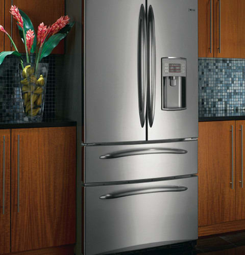 Ge Pgss5pjxss 24 9 Cu Ft French Door Refrigerator With 4