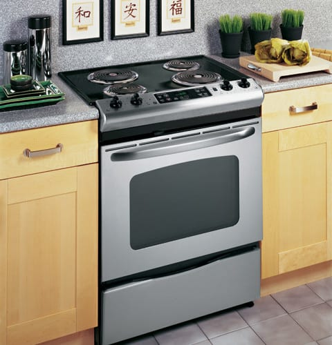 Ge Jsp39snss 30 Inch Slide In Electric Range With 4 Coil