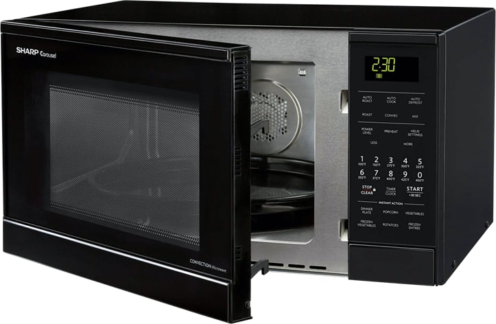 Sharp R830bk 0 9 Cu Ft Countertop Microwave Oven With
