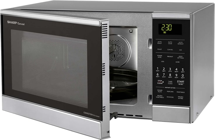 Sharp R830bs 0 9 Cu Ft Countertop Microwave Oven With