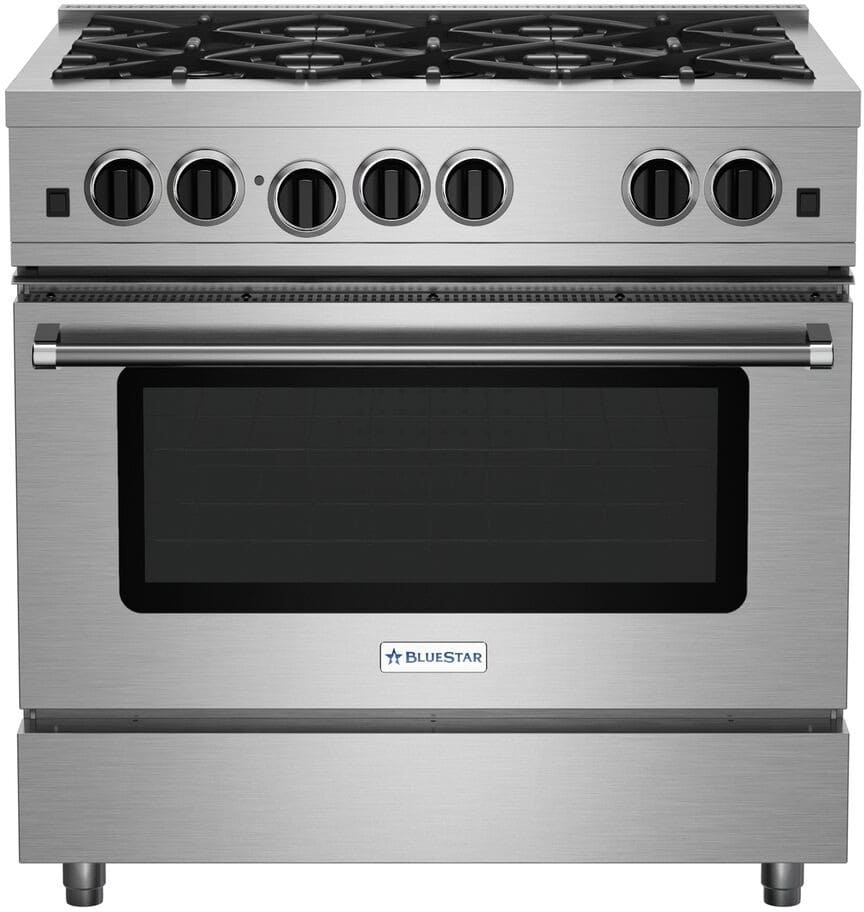bluestar rcs36sbv2ng 36 inch pro style gas range with porcelain enamel top convection oven. Black Bedroom Furniture Sets. Home Design Ideas
