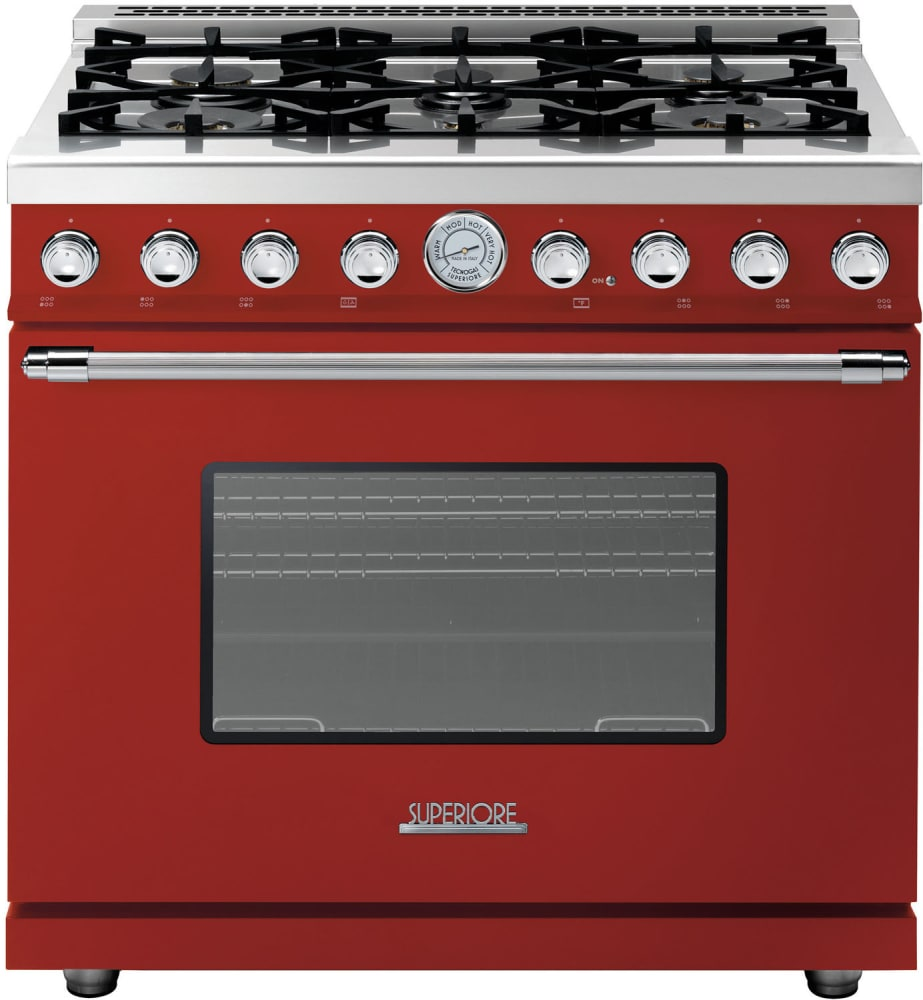 superiore rd361gcrc 36 inch freestanding gas range with 6 sealed burners 16 000 btu oven 6 7. Black Bedroom Furniture Sets. Home Design Ideas