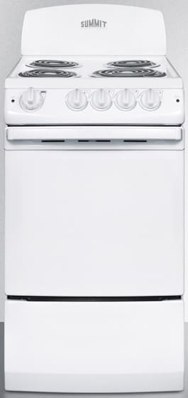 Summit Re201w 20 Inch Freestanding Electric Range With 4