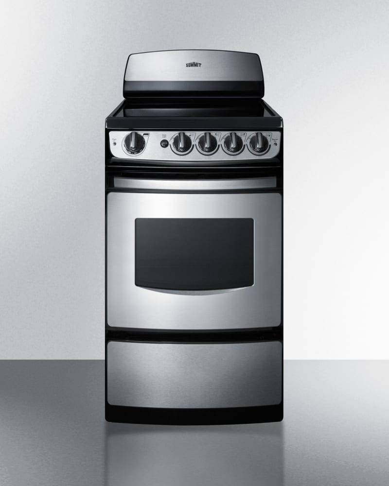 Summit REX207SSRT 20 Inch Smoothtop Electric Range with ...