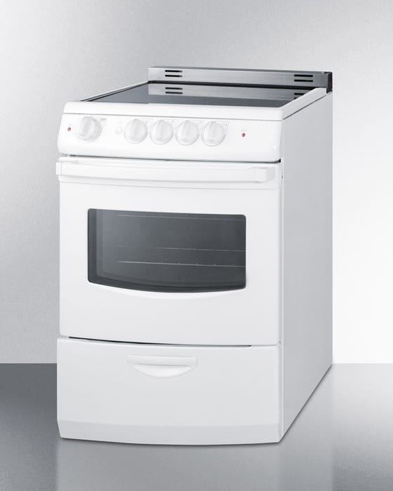 Electric Range Smooth Top Cooking Surface Summit On In: Summit REX242WRT 24 Inch Freestanding Electric Range With