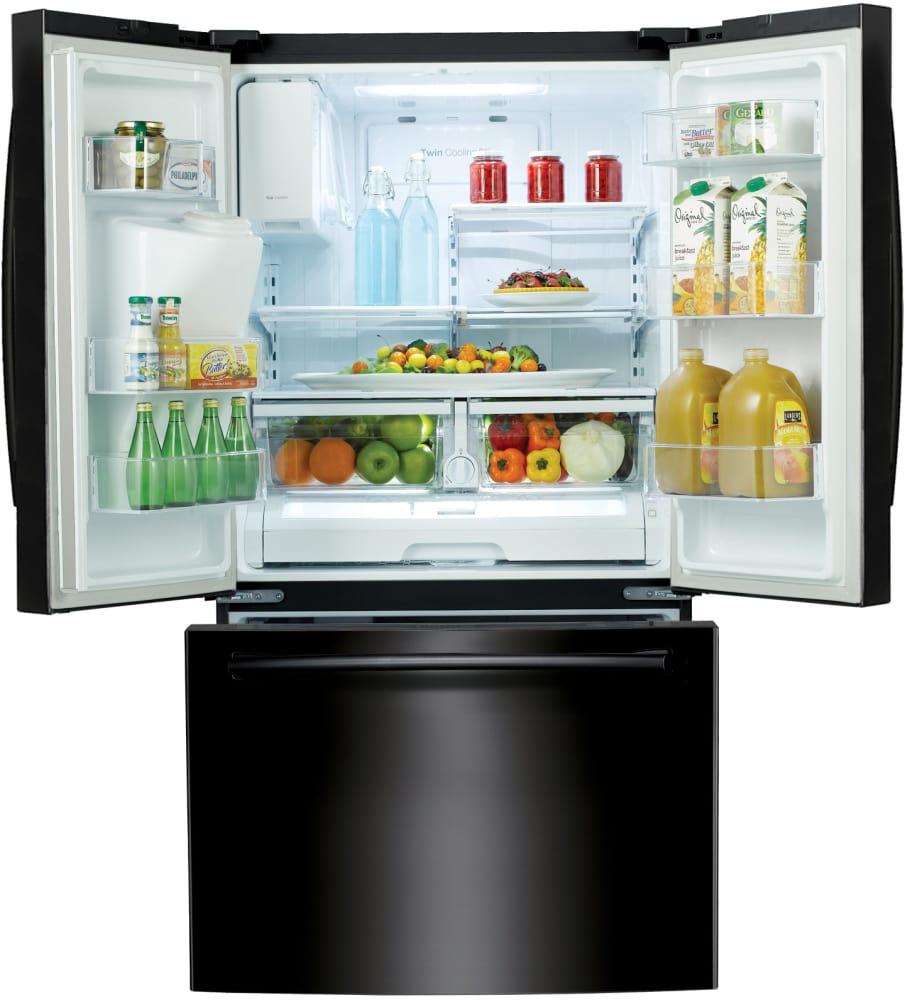 Rf263beaebc Samsung Black 36 Inch French Door Refrigerator