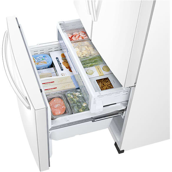 Samsung RF26J7500WW 33 Inch French Door Refrigerator With TwinCooling  Plus™, CoolSelect Pantry™, EZ Open™ Handle, Power Freeze/Power Cool,  Adjustable Shelf, ...