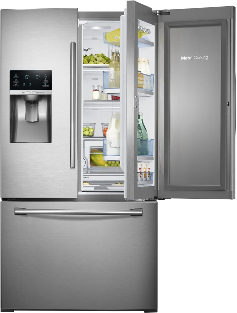 Samsung Rf28hdedtsr 27 8 Cu Ft French Door Refrigerator