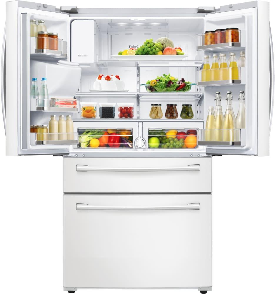 Rf28hmedbww Samsung White 36 Quot French Door Refrigerator W