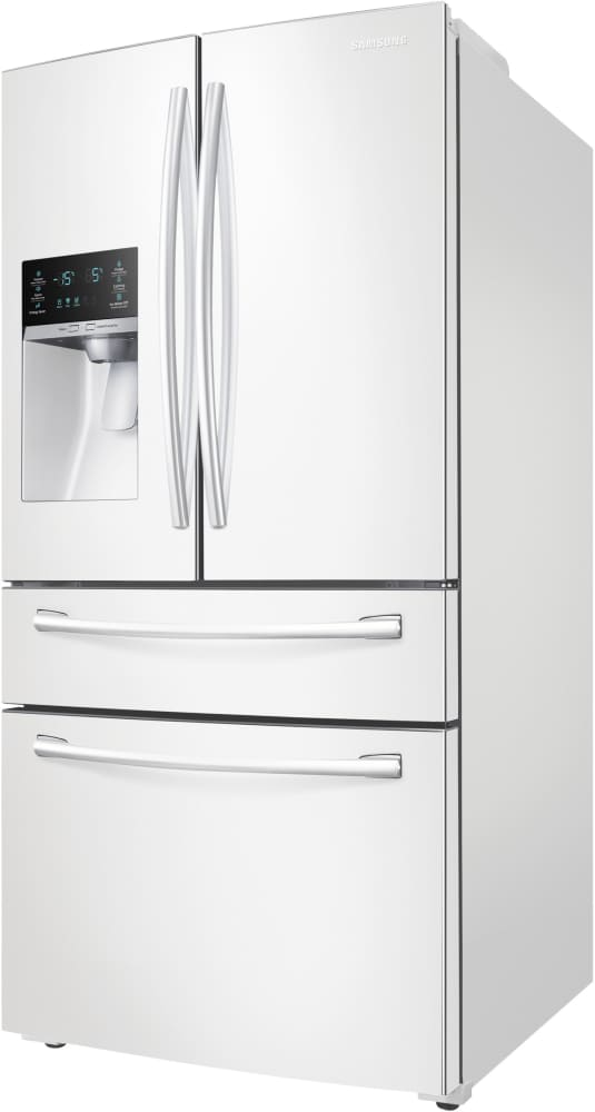 white refrigerator french door. samsung rf28hmedbww - 36 inch french door refrigerator white e