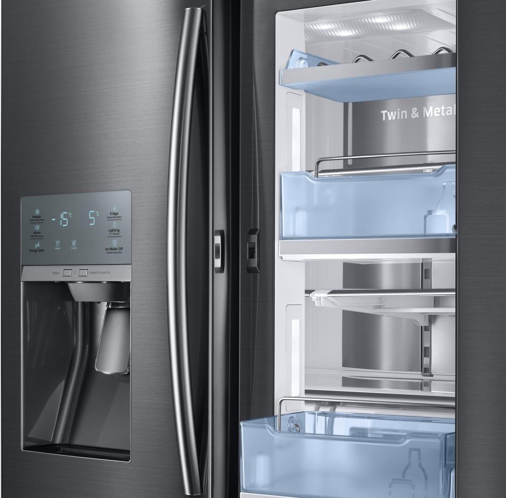 Samsung French Door Refrigerator Temperature Settings: RF28JBEDBSG 36 Inch Samsung Black Stainless Steel