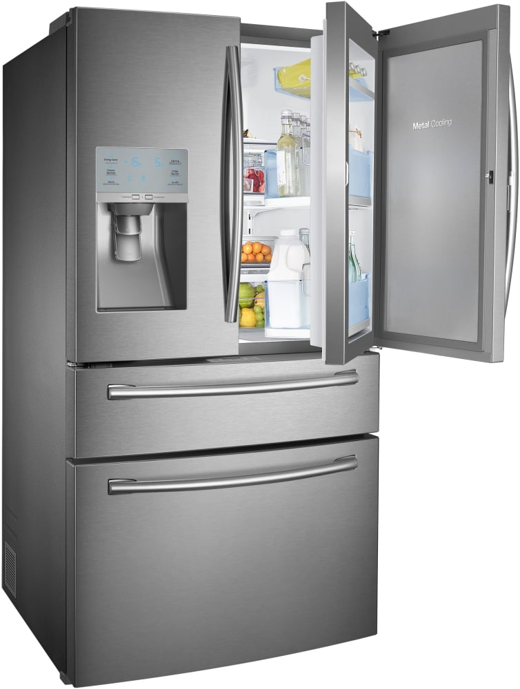 Samsung Rf30hbedbsr 36 Inch French Door Refrigerator With