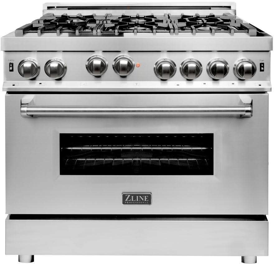 Zline Rg36 36 Inch Pro Style Freestanding Gas Range With