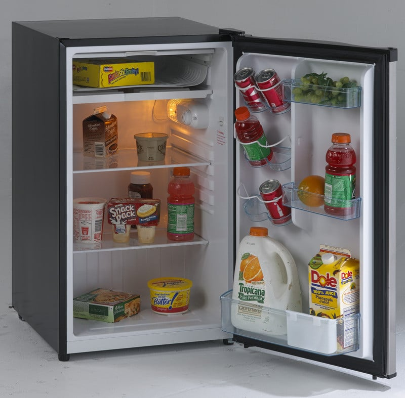 avanti rm4436ss 4.4 cu. ft. compact refrigerator with 2 slide-out