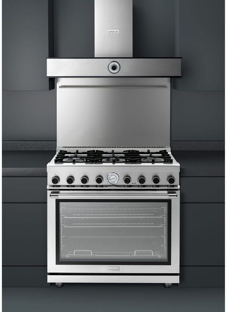 superiore rn361gpss 36 inch freestanding gas range with 6 sealed burners 16 000 btu oven 6 7. Black Bedroom Furniture Sets. Home Design Ideas
