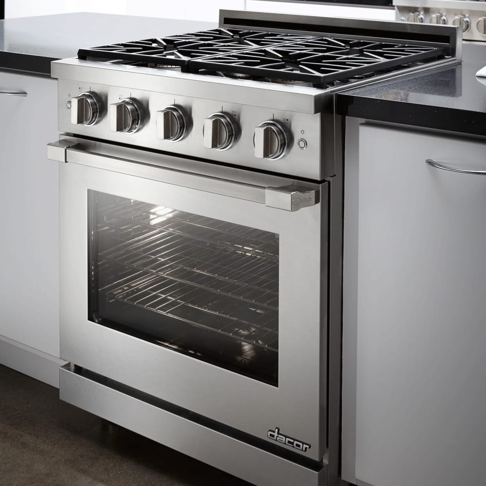 Dacor rnrp30gsng 30 inch freestanding gas range with 1 for Dacor cooktop