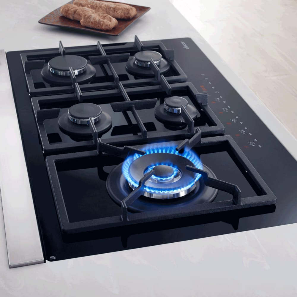 5 Burner Gas Cooktops: Dacor RNTT365GBNG 36 Inch TouchTop Gas Cooktop With 5