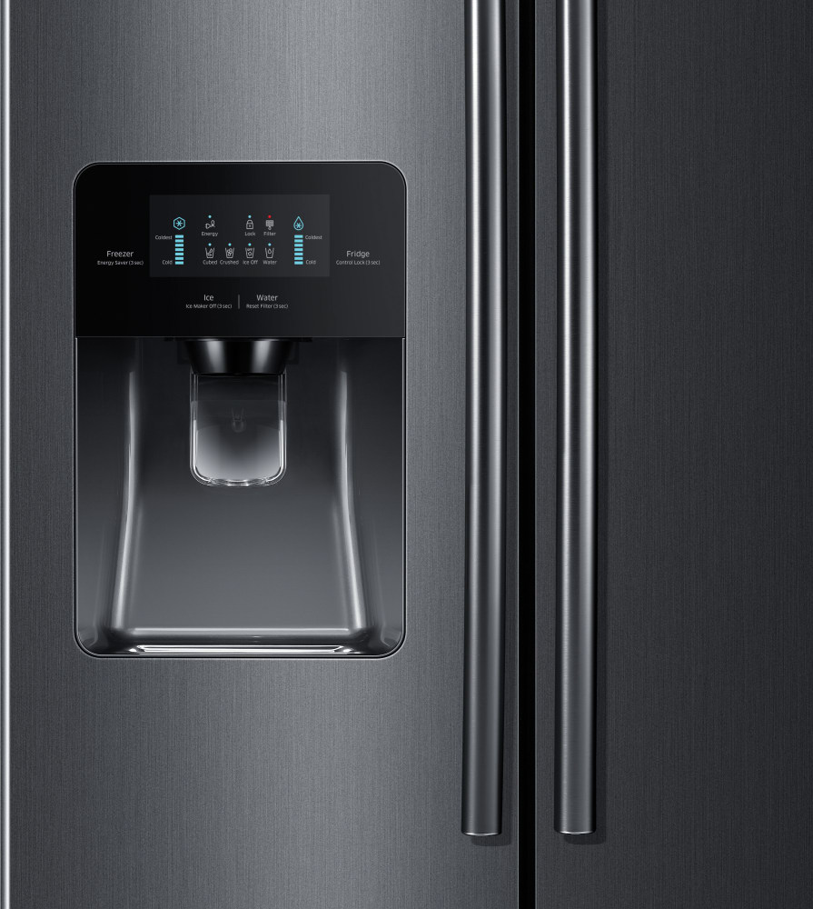 Samsung Rs25h5111sg External Water Ice Dispenser With Digital Control Panel