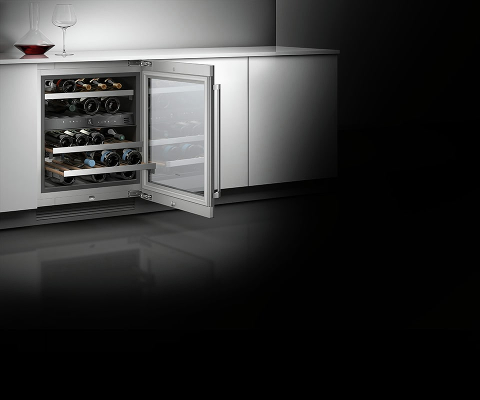 Best Wine Coolers >> Gaggenau RW404761 24 Inch Wine Cooler with 34 Bottle Capacity, 5 Wine Racks, Dual Temperature ...