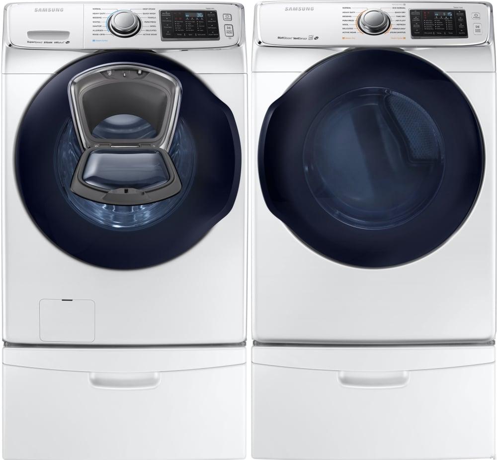 stainless washer and pedestals samsung dryer pedestal black s itm ebay electric