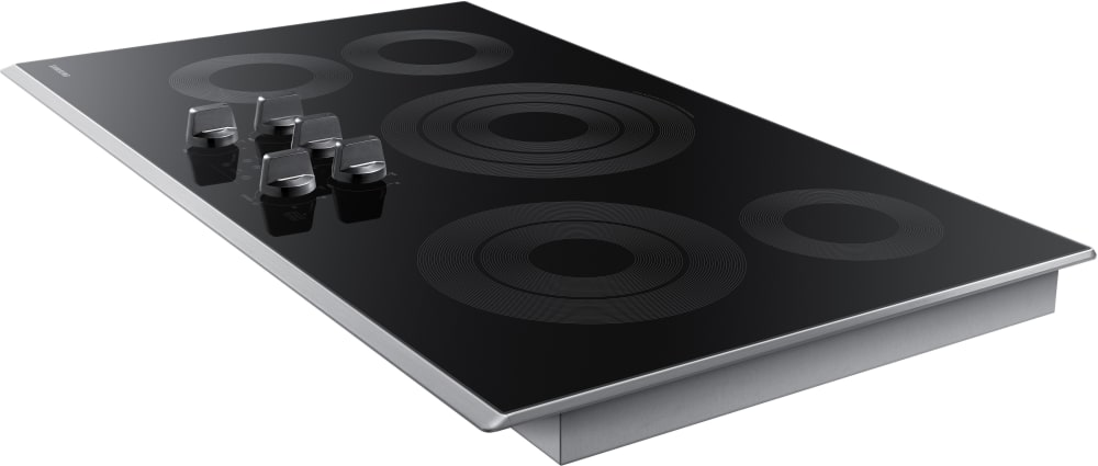 electric cooktop. samsung nz36k6430rs 5burner electric cooktop from with stainless steel trim