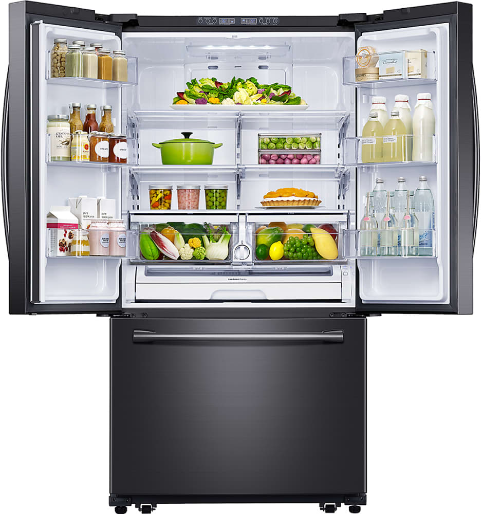 Samsung Rf261beaesg 36 Inch French Door Refrigerator With