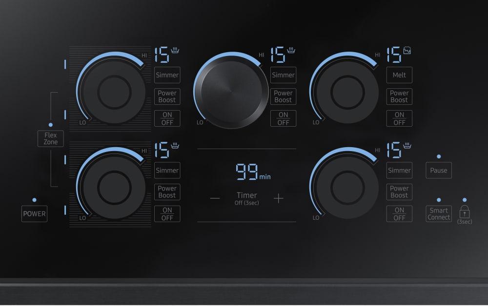36 Electric Range >> Samsung NZ36K7880UG 36 Inch Induction Cooktop with Flex ...