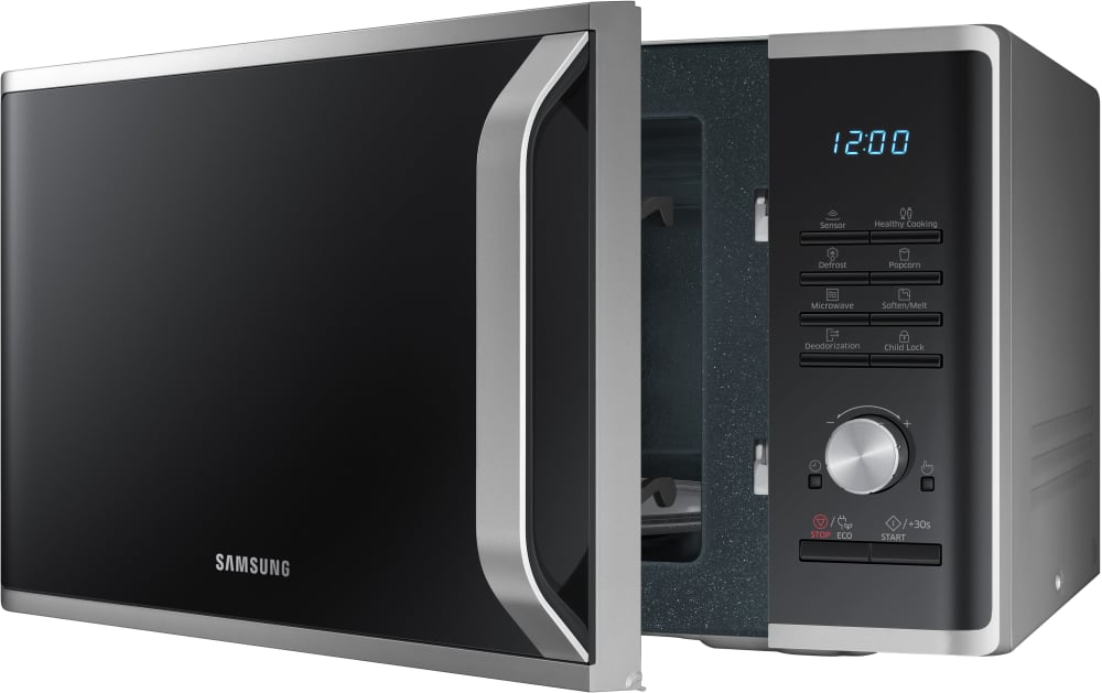 Samsung Ms11k3000as 1 1 Cu Ft Countertop Microwave With 1 000 Watts 10 Power Levels Sensor
