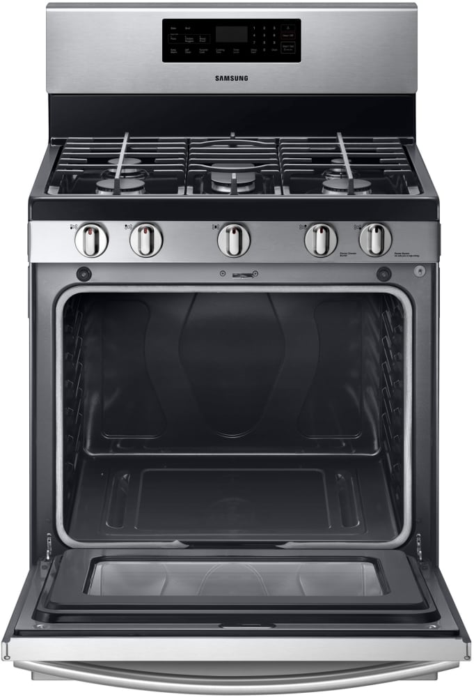 Viking Gas Cooktop >> Samsung NX58F5500SS 30 Inch Freestanding Gas Range with 5 ...