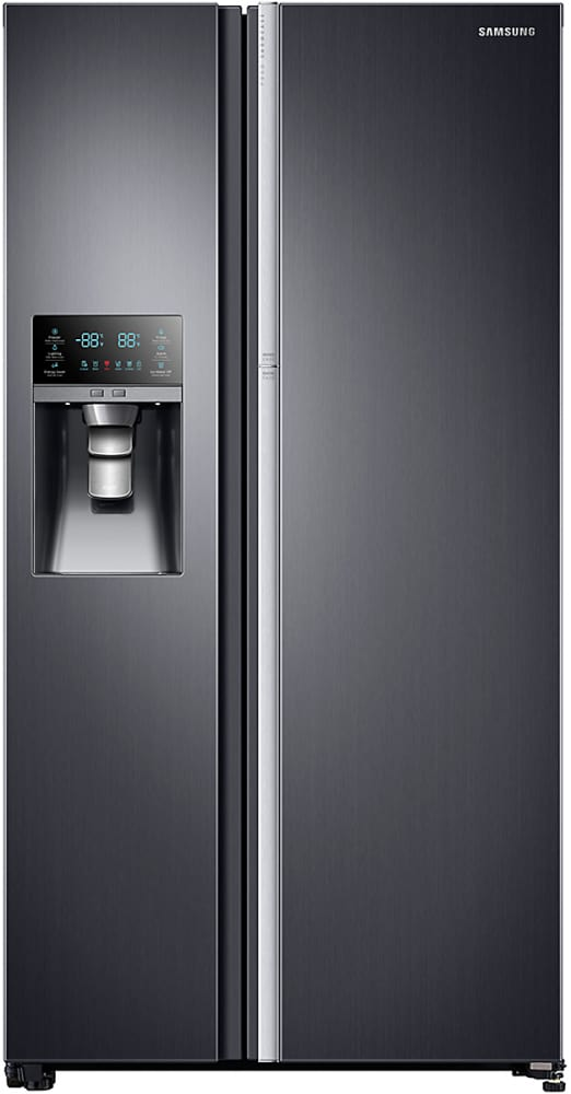 sharp side by side refrigerator. samsung rh22h9010sg - 36 inch counter depth side by refrigerator from sharp