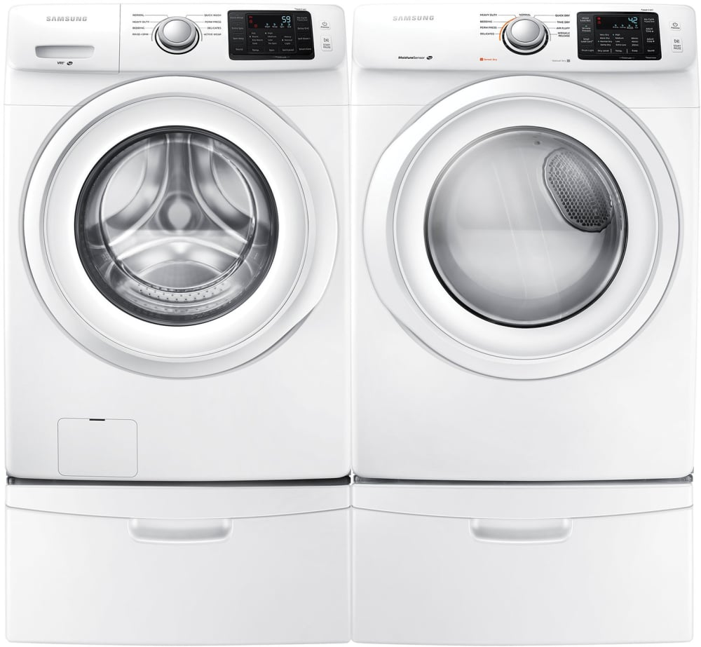 Samsung Sawadrew15 Side By Side On Pedestals Washer