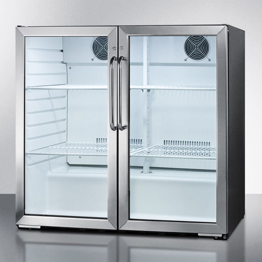 Summit SCR7052D 36 Inch Commercial Beverage Center with 4 Adjustable ...