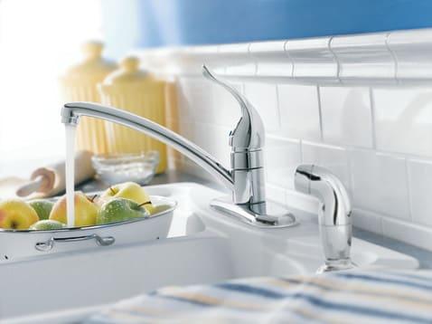 Moen 7430 Single Lever Cast Spout Kitchen Faucet With 9 1