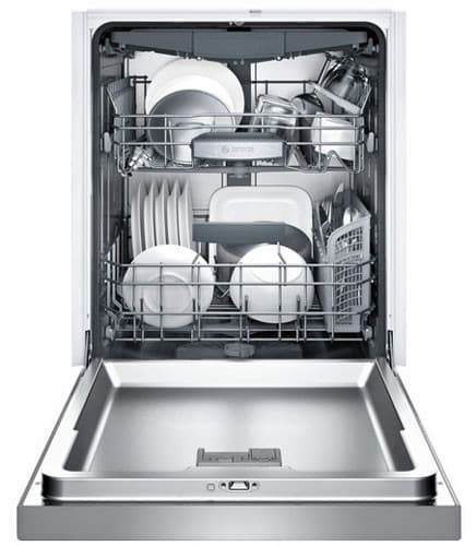 bosch she68t55uc full console dishwasher with 3rd rack. Black Bedroom Furniture Sets. Home Design Ideas