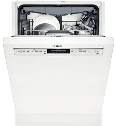 bosch she68t52uc full console dishwasher with 3rd rack. Black Bedroom Furniture Sets. Home Design Ideas