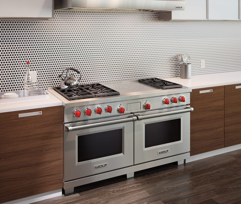 Wolf DF606F 60 Inch Pro-Style Dual-Fuel Range with 6 Dual-Stacked ...