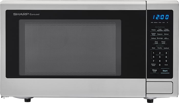 Sharp Smc1132cs 1 1 Cu Ft Countertop Microwave With