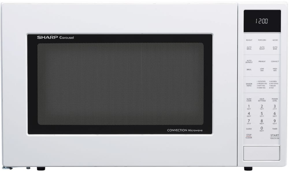 Convection Microwave Oven In Black Sharp Smc1585b S 1 5 Cu Ft White