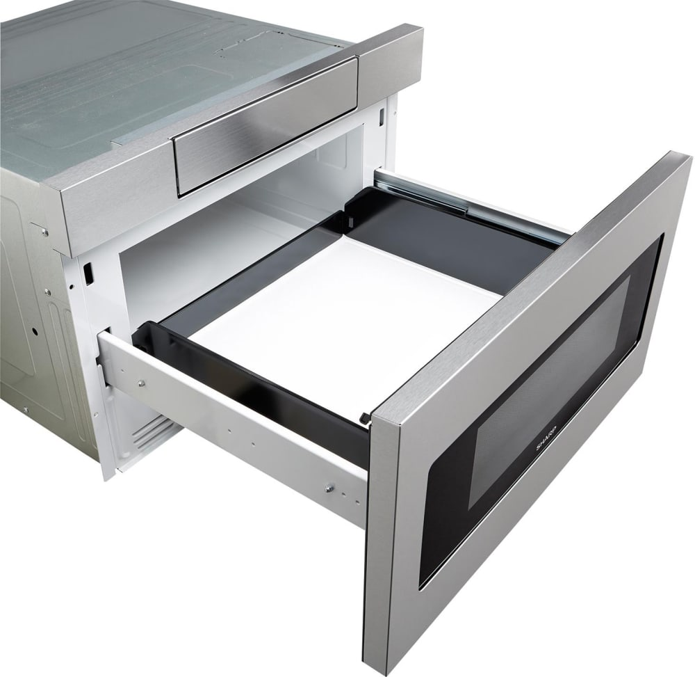 Sharp Smd2470as 24 Microwave Drawer Angle View Interior