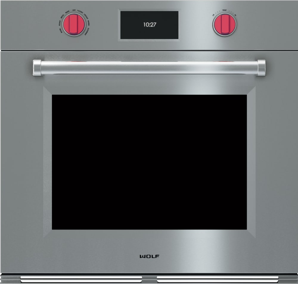 Wolf So30pmsph 30 Inch Single Electric Wall Oven With 5 1 Cu Ft Dual Convection Oven Self Clean 10 Cooking Modes Temperature Probe Color Touch Screen Control Panel And Star K Certified