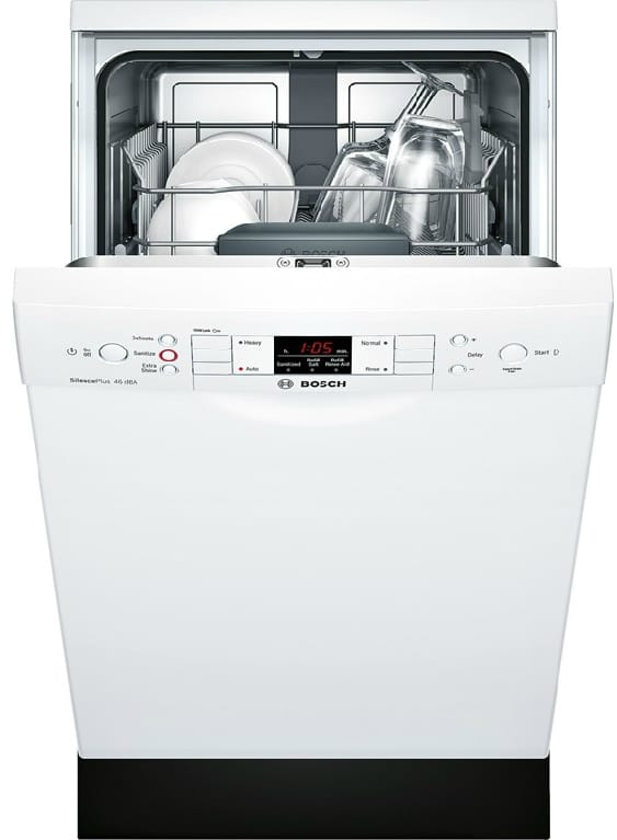 bosch spe53u52uc 18 inch full console dishwasher with. Black Bedroom Furniture Sets. Home Design Ideas