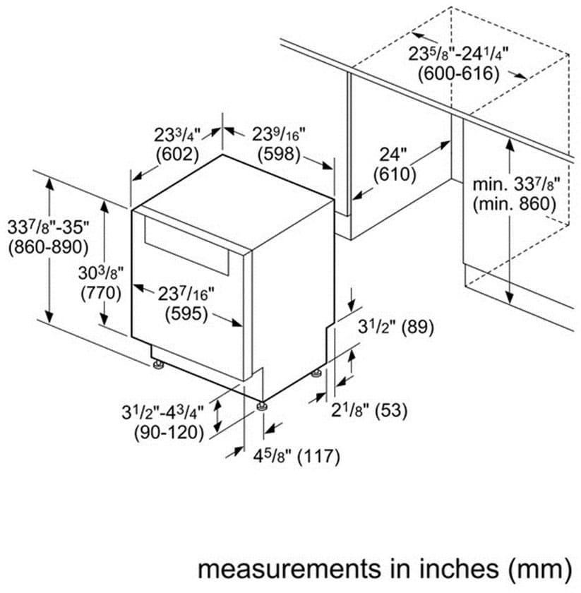 Bosch 300 Series Shp53t55uc Specs Sheet
