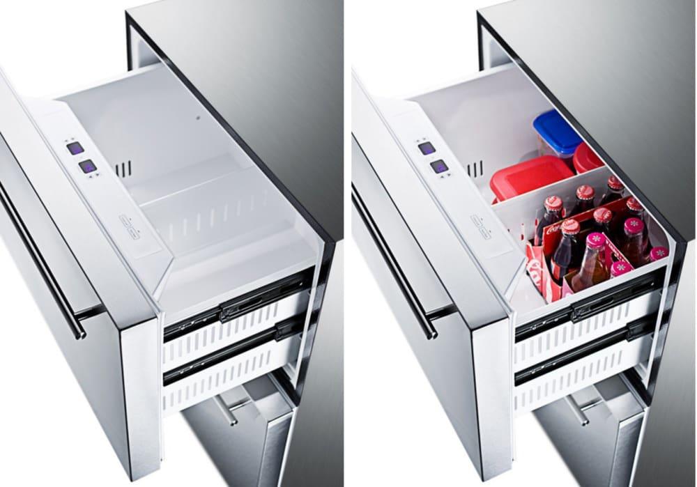 Summit Sprf2d5 24 Inch Undercounter Refrigerator And