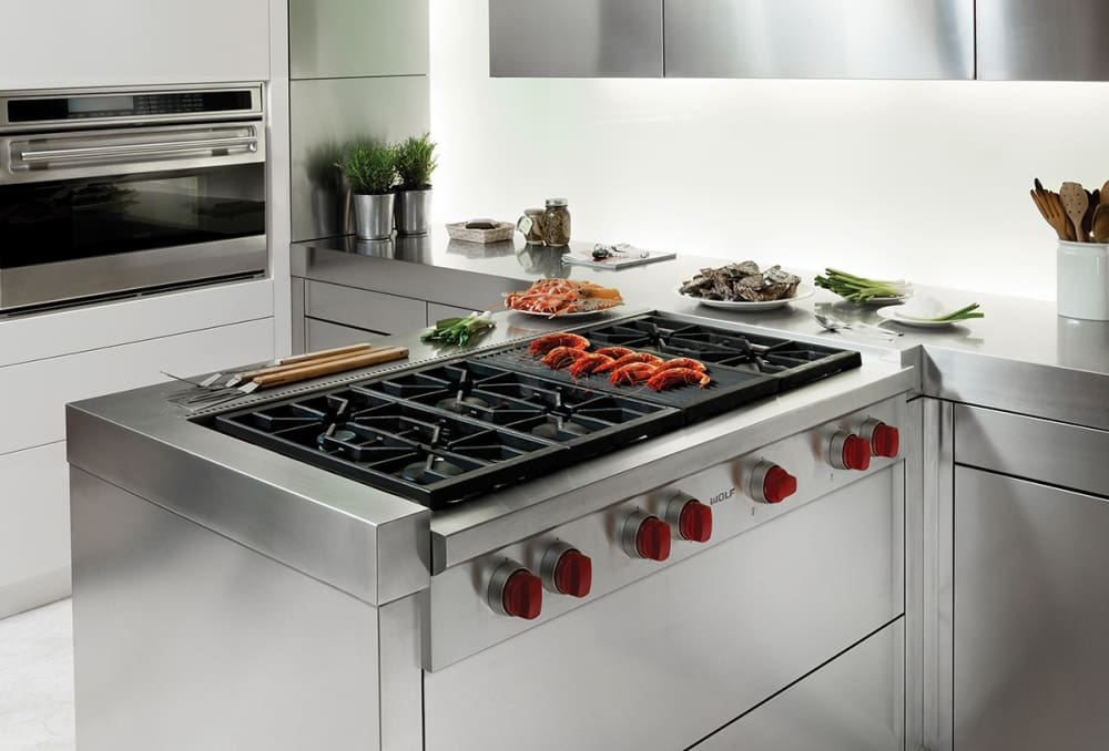 Wolf Srt486clp 48 Six 6 Sealed Burner Rangetop With Infrared Charbroiler