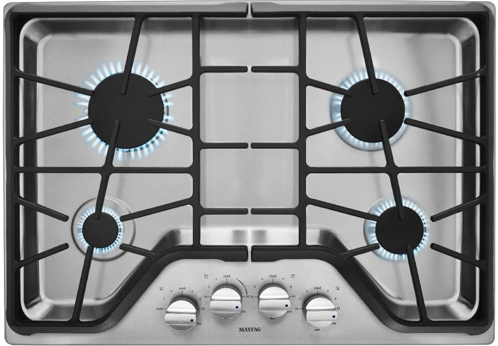 30 gas cooktop.  Cooktop Maytag MGC9530DS  Front View  With 30 Gas Cooktop E