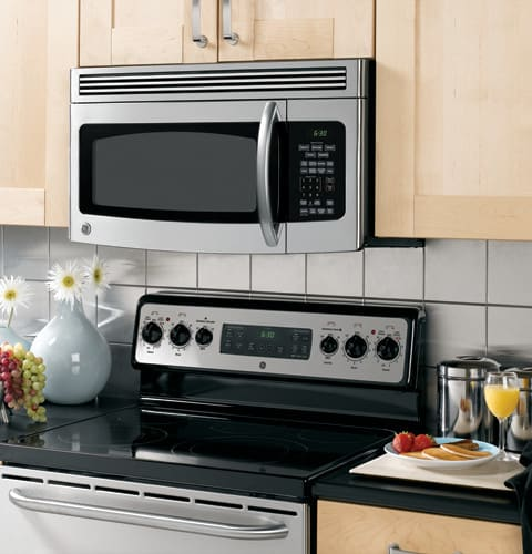 Ge Jvm1750 1 7 Cu Ft Over The Range Microwave Oven With
