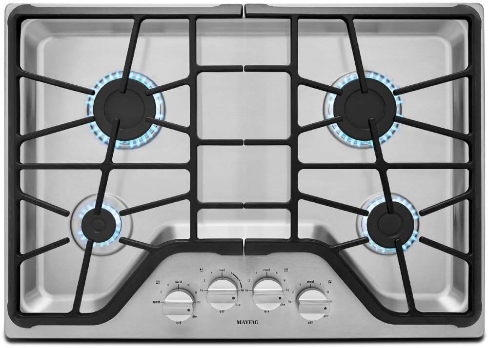 Maytag MGC7430DS 30 Inch Gas Cooktop with 4 Sealed Burners 5000